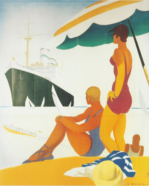 iconoclassic:  Marcello Dudovich. Conte Verde Cruises (by kitchener.lord)