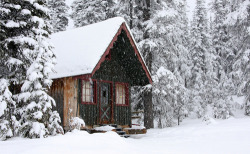 silveriodide:  A winter cabin on Mount Baldy. Man I wish I was here right now :)