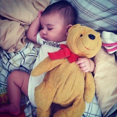 baby with bear | Tumblr