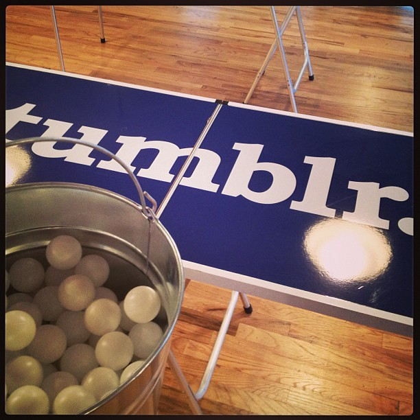 Beer pong party prep (at Tumblr) tumblr.com/jobs