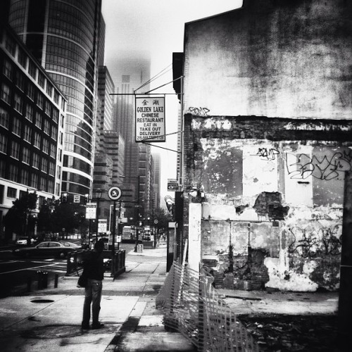 #philly #philadelphia #market #street #demolition #fog #urban #grime #beauty #decay #iphoneonly #psychogeography with @dilodemille
