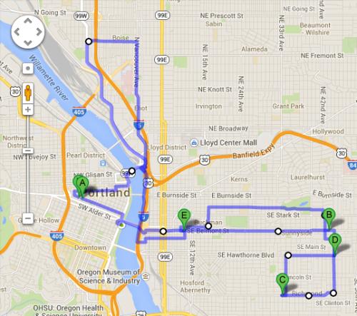 Biking, seeing, eating and drinking through Portland (16.5mi) #xoxofest