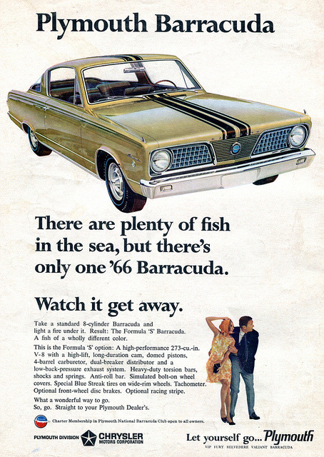 1966 Plymouth Barracuda Advertising Car and Driver Magazine January 1966 by SenseiAlan on Flickr.1966 Plymouth Barracuda Advertising Car and Driver Magazine January 1966