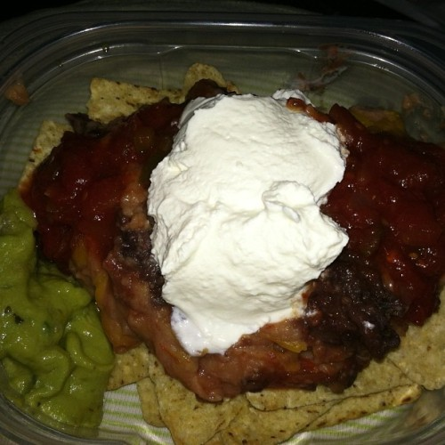 "Julia's ""Not-yo"" style nachos! YUM! (at my redneck trailer court home)"