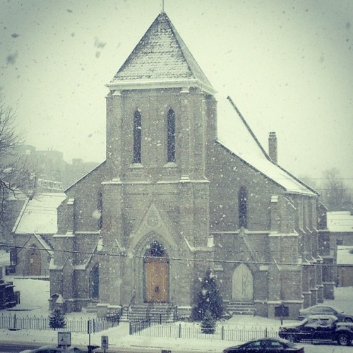 Church in snow #ontariodiaries