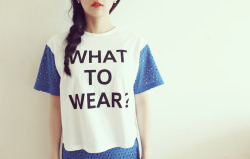 POER lace short sleeve cropped T shirt (White,Blue)  www.artfitshop.com