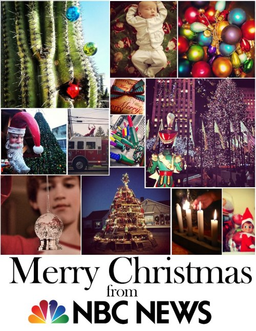Merry Christmas from NBC News Here are photos from our followers on Instagram who contributed to our NBC News Hashtag Collection. Share your Christmas photos with us with #HC_Christmas on Instagram.
