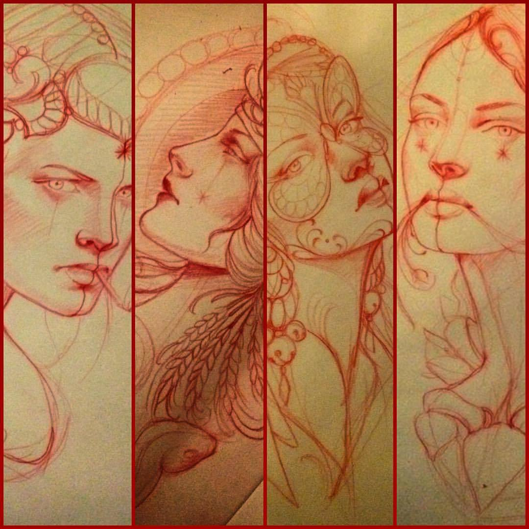 Girls girls girls #love #drawing #girls #tattoo #missjuliet