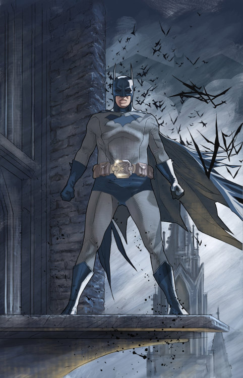 lulubonanza:  Batman looking over his city by ~benttibisson