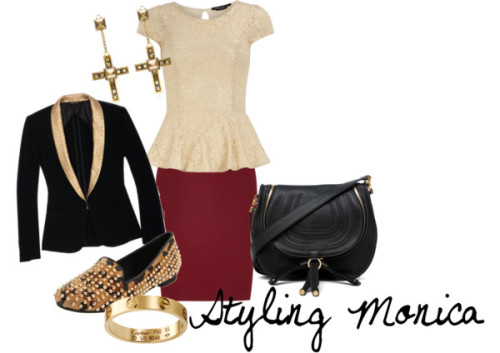 Untitled #643 by stylingmonica featuring a leather shoulder bag