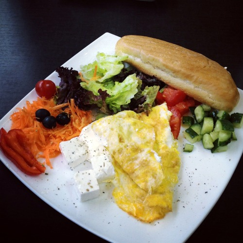 $4.5 breakfast at Linass Caffe, Kiev, Ukraine