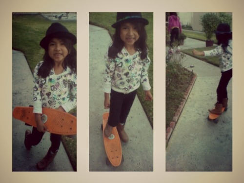 My little skater girl