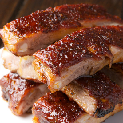 in-my-mouth:  St. Louis Ribs with Maple BBQ Sauce
