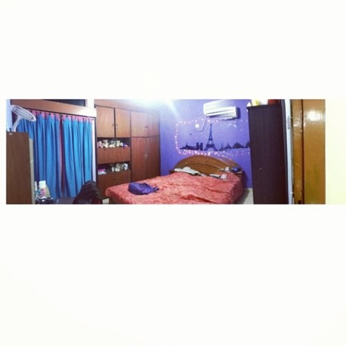 my room. (at shafira's crib)