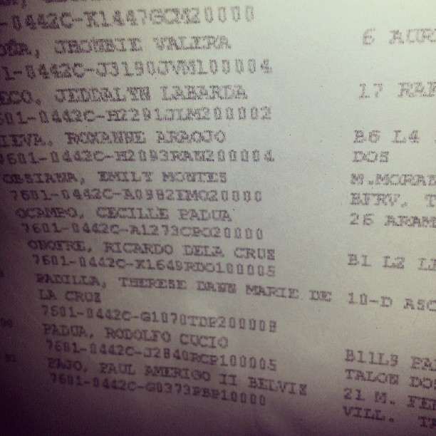 There's my name on the list! #Halalan2013 #PHVote #Eleksyon2013 #Awesome2013