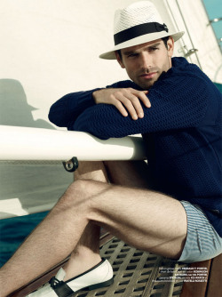 mensfashionworld:  Justin Gaston by Dean Isidro for Tetu
