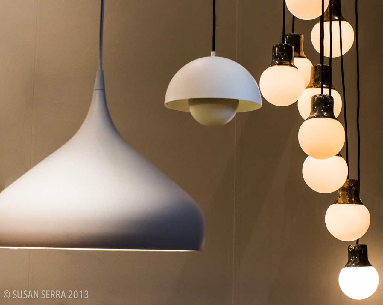 Beautiful lighting by &Tradition, displayed at ICFF. Sensuous and understated.