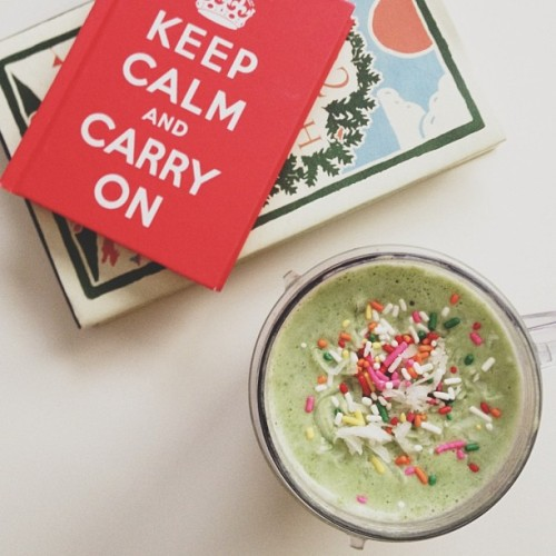 A sprinkle-topped green smoothie just because.