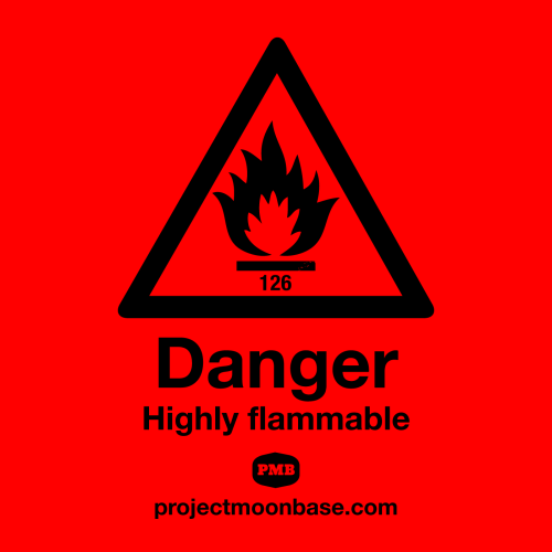 "projectmoonbase:  Danger Highly Flammable pmb126 It's all about arson, flames 'n' fire this week. Also moog, merengue and morada, tune in.  Out now, featuring a track from our recent 7"", along with a whole host of other wonderful tunes!"