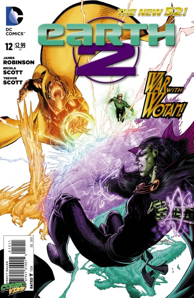 Comic Vine has a preview of Earth 2 #12 written by James Robinson, with art by Nicola Scott and Trevor Scott, and a cover by Brett Booth and Norm Rapmund.