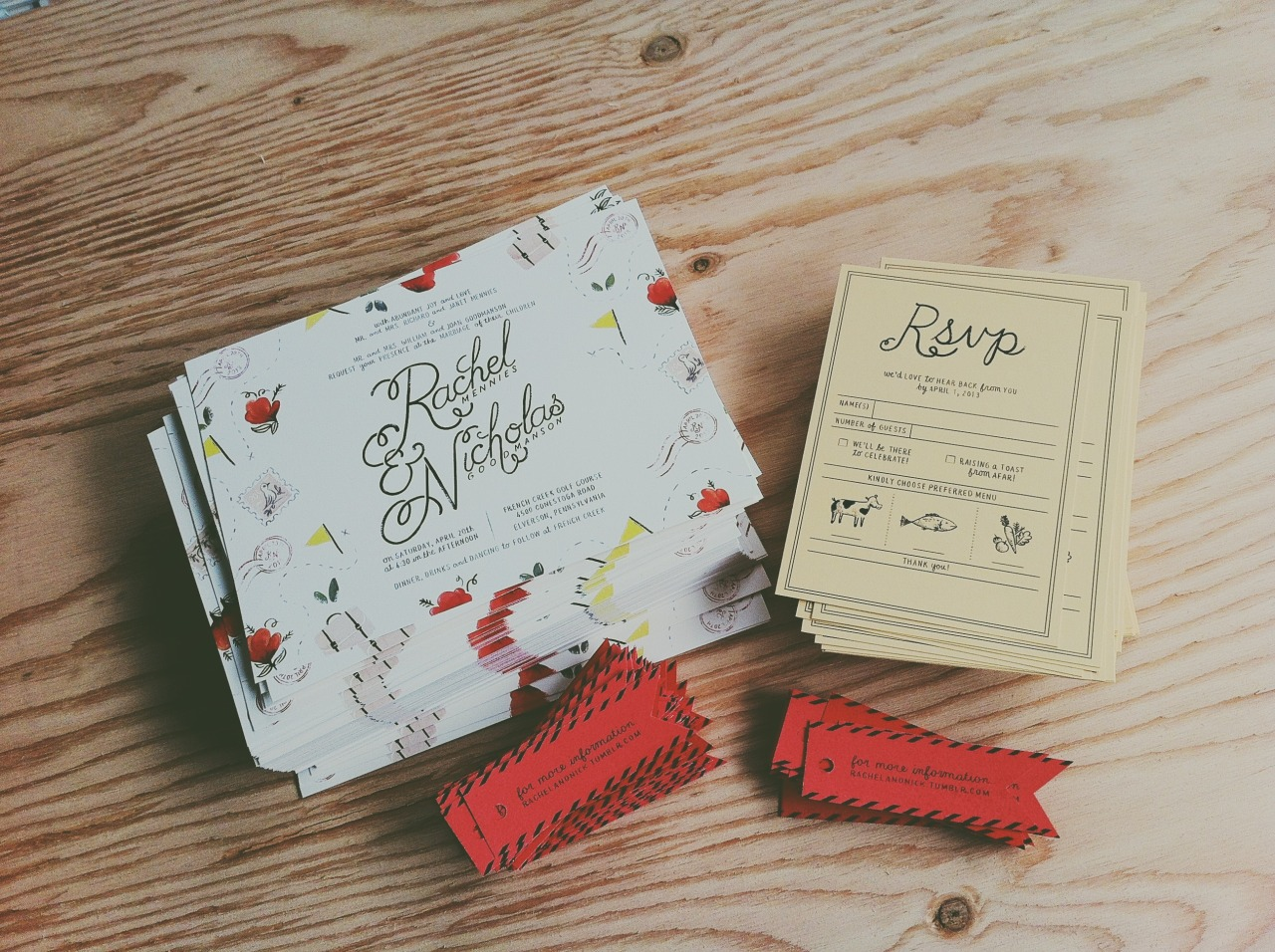 Rachel and Nick's Wedding Invitations One of my most favorite wedding set and bride to work with, hands down. Adding to our lookbook soon, I promise. I notice it's been awhile since we've updated!
