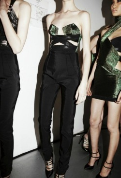 Backstage @ Anthony Vaccarello F/W 2012.