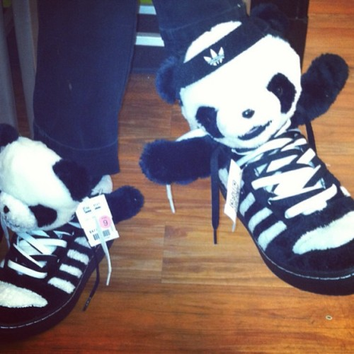 #WhatUpPandas?! Jeremy Scott Adidas at #BuffaloExchange #SanFrancisco #Haight
