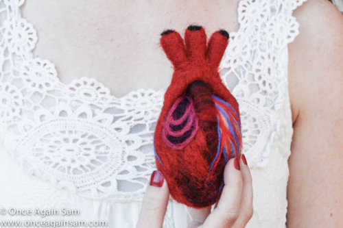 HeartFelt Anatomical Heart Human Scale by OnceAgainSam on Etsy