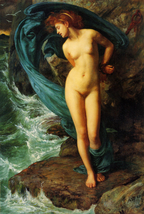 neutralfool:  Andromeda - Edward John Poynter  1869, oil on canvas.