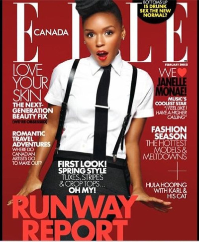 Janelle Monae for Elle Magazine [Canada, Feb 2013]