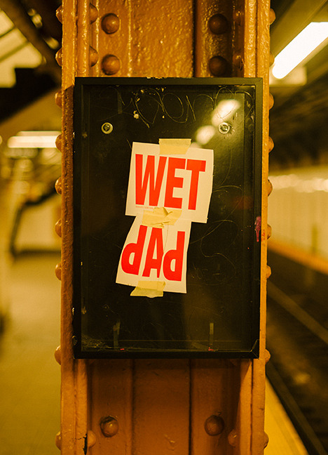 Wet Dad, Union Square Station, NYC
