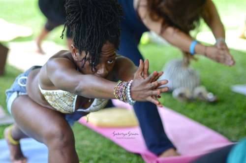 ~ Keep.Your.Goals.In.Sight ~ *Image taken of Yoga Instructor, Nadine McNeil {Universal Empress} at the Caribbean Yoga Conference 2013, held in Montego Bay, Jamaica*