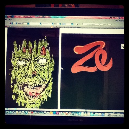 Zuper donezo! With the #zombie face, just need to finish the typo, and we're good, I hope my coffee makes this sickness go away #illustrator #illustration #vector #adobeillustrator #comicon #zombies #zombieillustration #digitalart