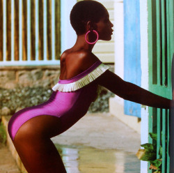80s-90s-supermodels:  Roshumba Williams, late 80s