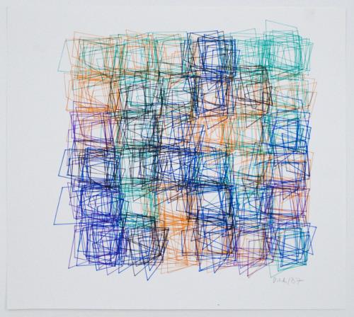 art drawing computer vera molnar geometric squares colorful ink abstract abstractart minimal shapes programming