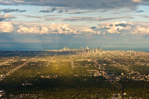 conflictingheart:  Chicago from afar