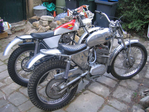 Wassell 125 Antelope + Honda TL125 TL trials by wobble53mk3 on Flickr.
