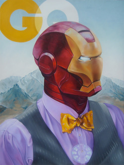"eatsleepdraw:  66"" x 48""  Oil on Canvas.  IRONman of the year.       (via TumbleOn)"