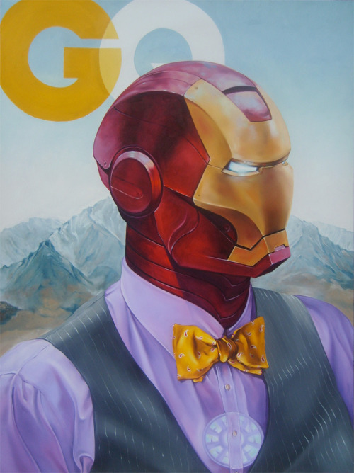"eatsleepdraw:  66"" x 48""  Oil on Canvas.  IRONman of the year."