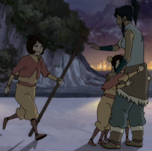 korraa:  slacktension:  crying about how korra waves jinora into the hug omg  I THOUGHT IKKI HAD TWO ARMS ON ONE SIDE FOR A SEC