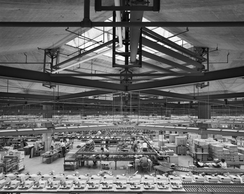 "midcenturymodernfreak:  1969 Olivetti Underwood Factory | Architect: Louis Kahn | Harrisburg, PA | Photo: Ezra Stoller Via  Guy on factory floor: ""Me? Well, I'm responsible for A S D and F. I'm hoping to move up to the number keys."""