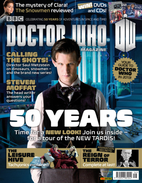 doctorwho:  @DWMtweets: It's New DWM Day! Issue 456 is out today for £4.75. The new look mag features an article on the new TARDIS, and a chat with @saulmetzstein.  Grab it in the shops in the UK. You can also subscribe worldwide.   ugh i hate how long it takes for new issues to pop up in our bookstore here in the u.s. i think the one they have currently is the one from 2 months ago. i think i should just break down and subscribe lol