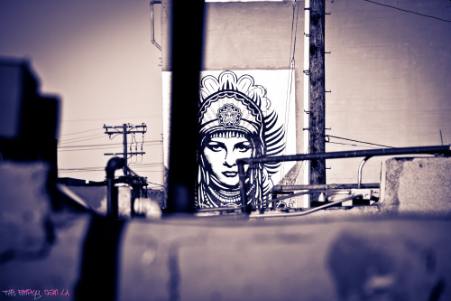 Shepard Fairey's 'Peace Goddess' Mural 3rd & Traction, DTLA