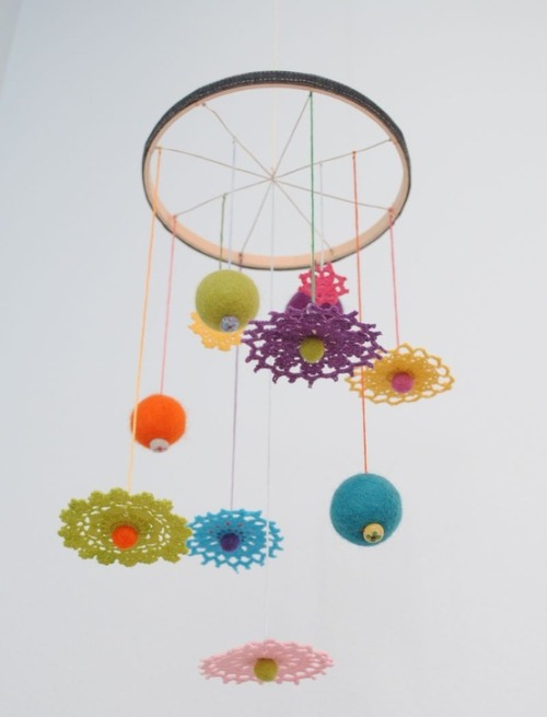 podkins:  Check out this adorable little baby mobile (although really you could make this for any room in your house in my opinion).  Suburbia Soup shares an awesome little tutorial with pics via the link.  Hope you like it!  so sweet!