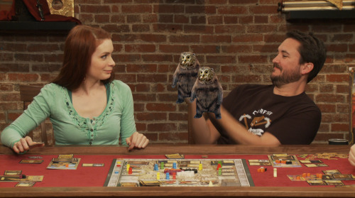 "While I was watching a rough cut of the Lords of Waterdeep episode of Tabletop, I twittered: ""'Arcane Mishap Blamed for Owlbear Situation' - Headline in the Waterdeep Gazette"". My editor responded by sending me this screencap from the episode."