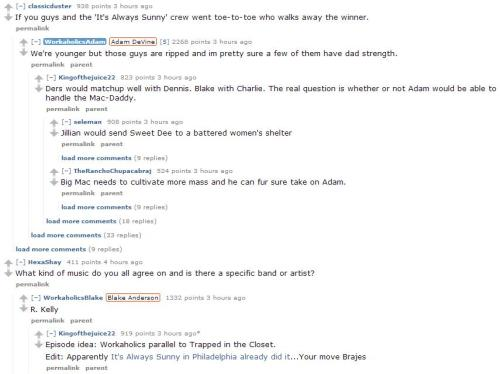 The Workaholics AMA reddit is making me so happy right now.