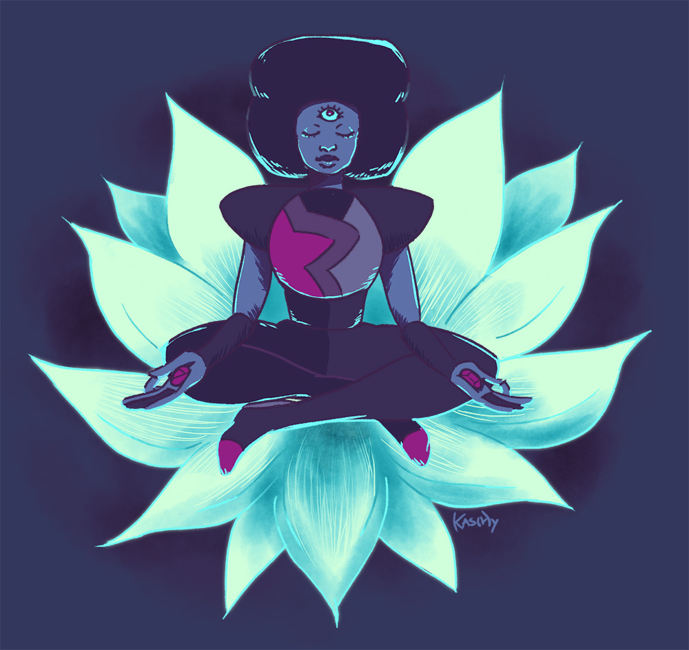 "@the-amazinghybrid​ was my 100th follower and requested a picture of Garnet, so here ya go! I'm still in love with Mindful Education and listening to ""Here Comes a Thought"" whenever I can."