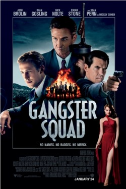 New releases: Gangster Squad releasing 24th January at VOX Cinemas Marina Mall - Abu Dhabi, Mall of the Emirates, Ajman City Centre, Mirdif City Centre and Deira City CentreStars : Sean Penn, Ryan Gosling, Emma StoneGenre : Crime / DramaDirector : Ruben FleischerTrailer link : http://www.youtube.com/watch?v=yc3Ab52uqM8A chronicle of the LAPD's fight to keep East Coast Mafia types out of Los Angeles in the 1940s and 50s.