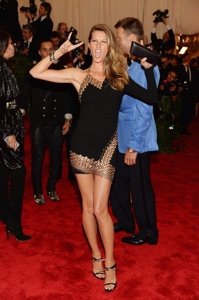 Gisele at the #MetGala - we're feeling it!