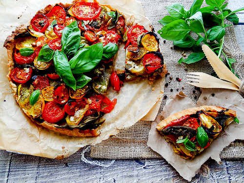 veganrecipecollection:  Vegan Tomato Tart
